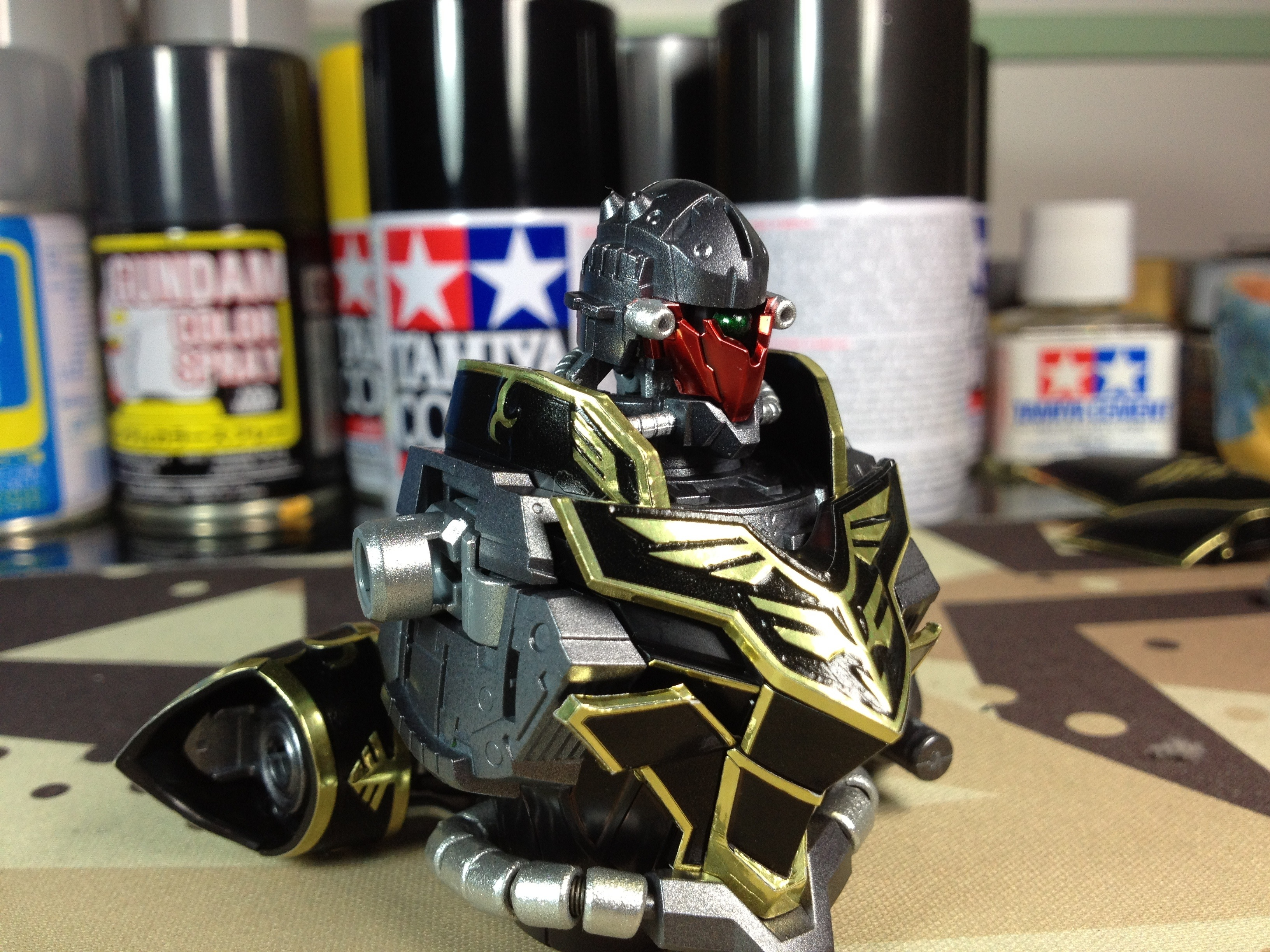 Spray Paint Drying Gunpla